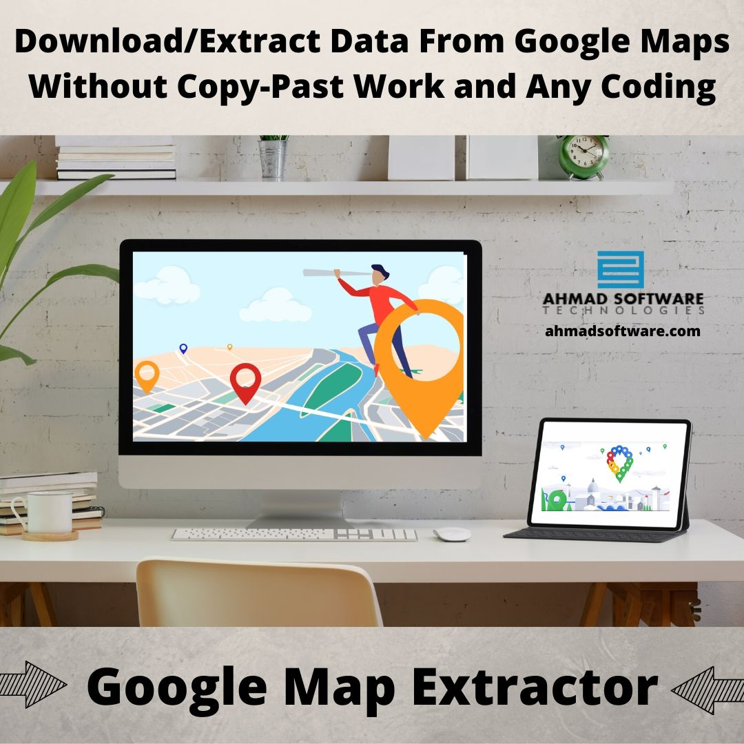 Download/Extract Data From Google Maps Without Coding
