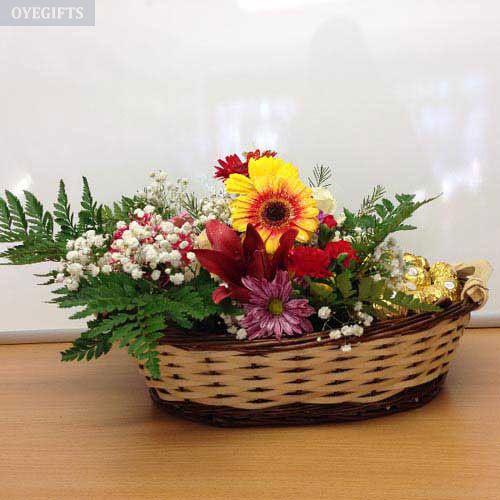 Flower and Ferrero Basket